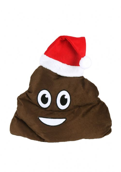 Adult Christmas Poo Hat Novelty Emoji Santa Poop Hat